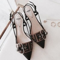 FENDI Fashion Women Chic Sexy Sandals High Heels Shoes I/A