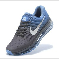 Tagre™ NIKE Trending Fashion Casual Sports Shoes AirMax section Blue grey white-hook