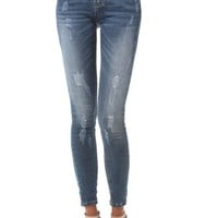 Push up jeans in high rise
