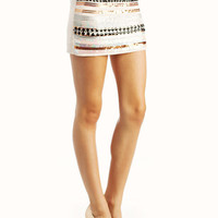 embellished-mini-skirt IVORY NAVY - GoJane.com