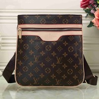LV Men Shopping Leather Tote Crossbody Satchel Shoulder Bag G-KSPJ-BBDL