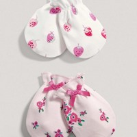 Girls Two Pack Of Scratch Mitts
