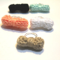 Knitted Bow Rings