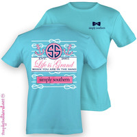 Simply Southern Southern Life Is Grand Anchor Girlie Bright T Shirt