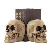 Skull Halloween Decor Bookends