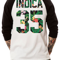 The Indica Jersey Raglan in Black and White (Black Sleeves)
