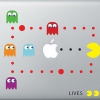 Pac Man Macbook Decal