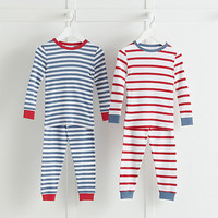 Snug Fit Mixed Stripe Pajamas 2 Pack | The White Company US