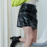 Shiny Mini Skirt