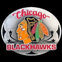 Chicago Blackhawks NHL Enameled Belt Buckle