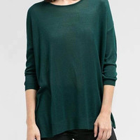 Green Long Sleeve Knitted Top