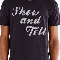 Show And Tell Tee- Washed Black
