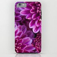 Chrysanthemum iPhone Case iPod Touch 6 Plus 5c 5s 4 4s 3g 3gs Hard Phone Cover Fine Art Unique Gift Pink Purple Flowers Feminine for her