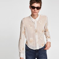 FLORAL EMBROIDERED BLOUSE DETAILS