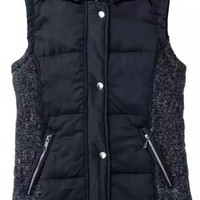 Cupshe Big City Splicing Hooded Vest