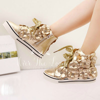 Matted Gold Bloom Girl's Sneakers