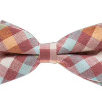Setter Plaid - Dusty Pink (Cotton Bow Ties) | Ties, Bow Ties, and Pocket Squares | The Tie Bar