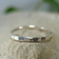 Toe Ring Silver 16g Closed Hammered