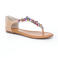 Jessica Simpson Radient Jeweled Sandals - All Natural