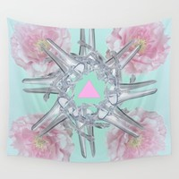 Halez Yea (in Mint) Wall Tapestry by Noisy Nora