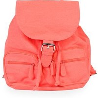 neon backpack with buckle