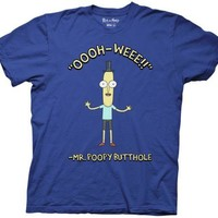 Rick and Morty Ooooh-Weee!! Mr. Poopy Butthole Adult Swim Licensed Adult T Shirt