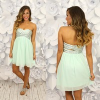 Mint For The Limelight Dress