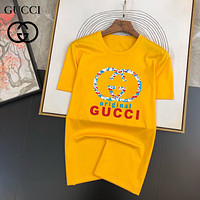 GUCCI GG printed double G letter round neck short-sleeved T-shirt