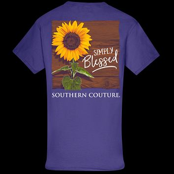 Southern Couture Classic Simply Blessed Sunflower T-Shirt
