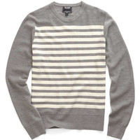 Reverse Jersey Sweater in Grey Heather