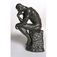 Thinker Statue of Deep Contemplation Museum Repllica by Rodin, Assorted Sizes - Grande 14H