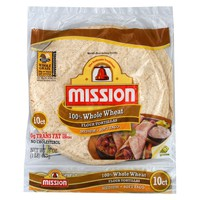 Mission Flour Soft Taco Whole Wheat Tortillas 10 ct : Target