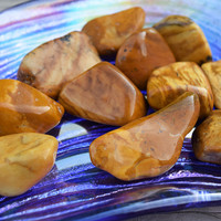 Yellow Jasper Companion Stone for Social Confidence - Helps Dispel Negativity, Gossip & Jealousy