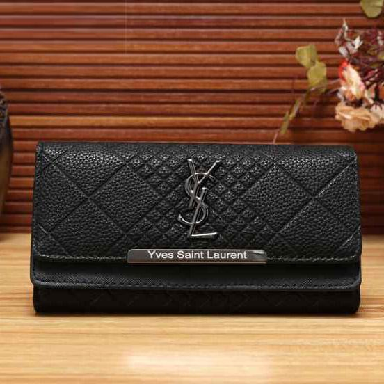Image of YSL Women Fashion Shopping Leather Buckle Wallet Purse