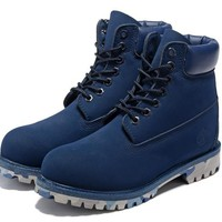 Timberland 10061 Anti-fatigue outdoor classic high help blue - camouflage at the end