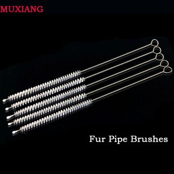 MUXIANG Pipe Fittings Briar Wood Smoking Pipe Cleaner Tools 10 Pcs Strong Cleaning Pipe Brushes for Water Pipe China fb0004