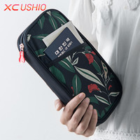Floral Pattern Travel Passport Wallet Multifunctional Credit Card ID Holder Travel Storage Bag Passport Holder Protective Case