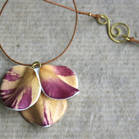Unique Real Natural Flower Pendant  - Botanist In Love Handmade Jewelry