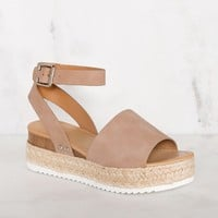 Weekend Platform Sandals - Natural