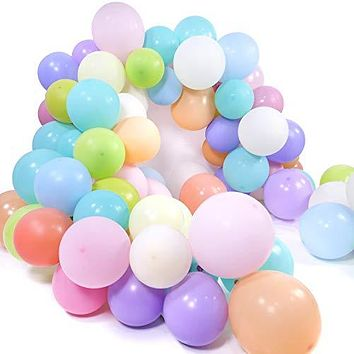 PartyWoo Pastel Balloons, 100 pcs 10 in Pastel Color Balloons in 12 Colors, Pastel Latex Balloons, Pastel Baby Shower Balloons, Balloons Pastel Colors for Baby Shower Pastel, Pastel Party Decorations