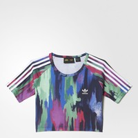 adidas Pharrell Williams Camouflage Tree Cropped Tee - Multicolor | adidas US
