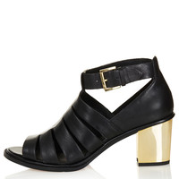 JACOB Cut Out Leather Heels - View All - Shoes - Topshop USA