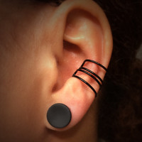 Mutli Black Conch Cuff / Large Ear Cuff