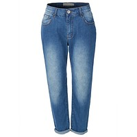 Baggy High Waisted Boyfriend Jeans with Pockets (CLEARANCE)