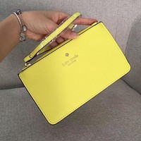 Kate Spade Women Girl Simple Zipper Wrist Bag Handbag Wallet Yellow (22 color)