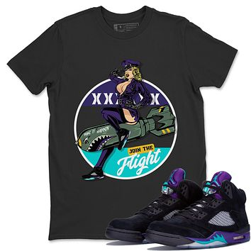 Pin Up Girl T-Shirt - Air Jordan 5 Black Grape