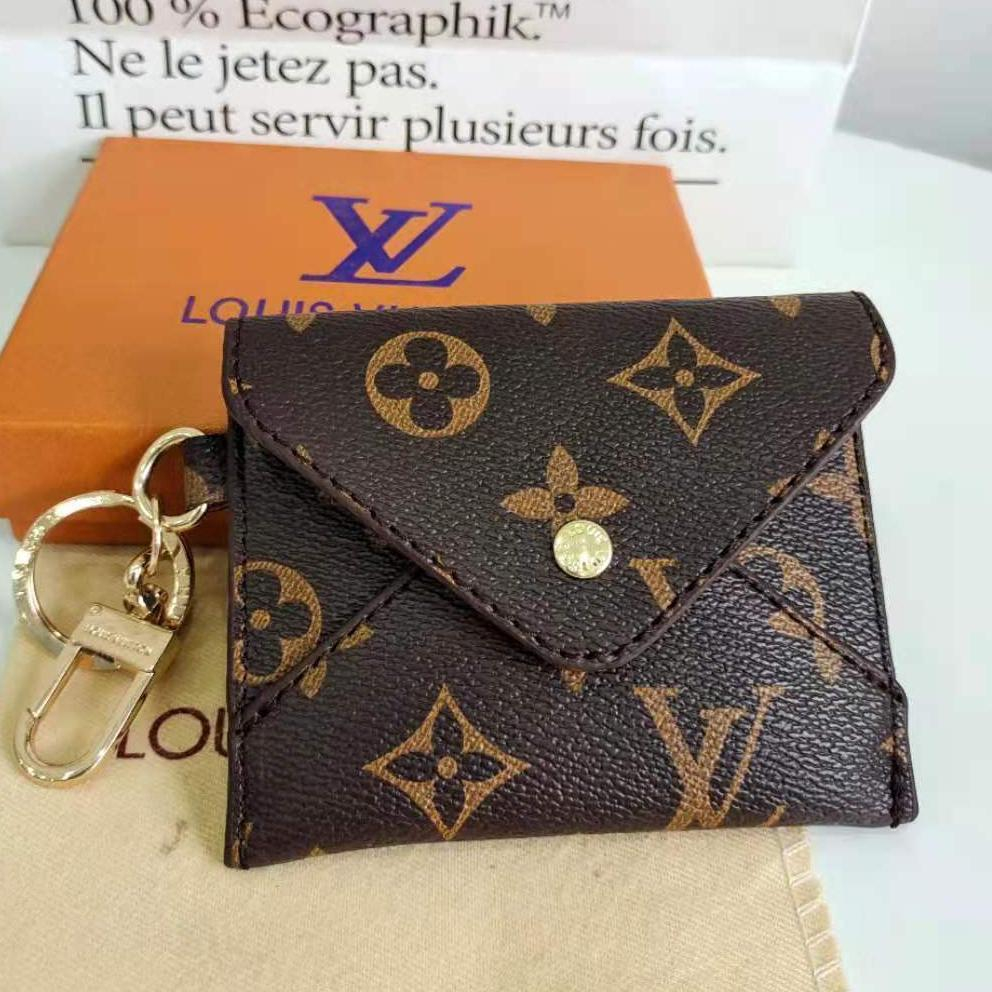 Image of LV Louis Vuitton Classic Letter Printed Envelope Small Wallet Key Case Bag