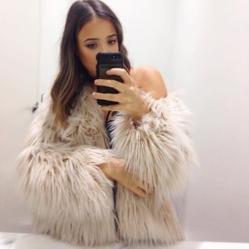 *online exclusive* faux fur jacket