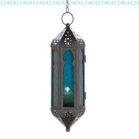 Gifts & Decor Ocean Blue Glass Azul Serenity Hanging Candle Lantern:Amazon:Home & Kitchen