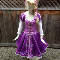 """Rapunzel Tangled Version C """"Ice Skating Version"""" Adult Custom Costume in your Size"""